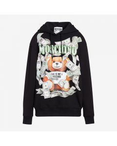 Moschino Dollar Teddy Bear Women Long Sleeves Sweatshirt Black