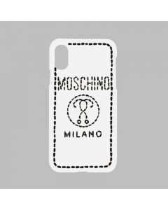 Moschino Stitching Question iPhone Case White