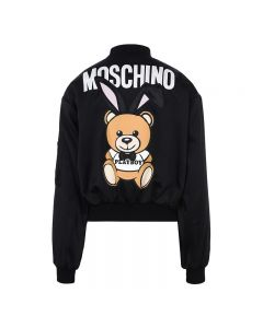 Moschino Playboy Bear Women Long Sleeves Jacket Black