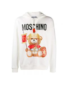 Moschino Roman Teddy Bear Women Long Sleeves Sweatshirt White