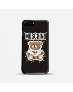 Moschino Safety Pin Teddy iPhone Case Black