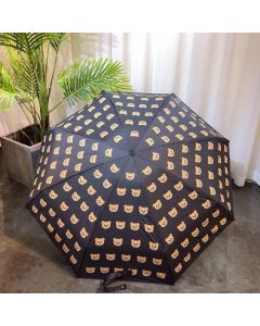 Moschino Head Bears Women Mini Umbrella Black