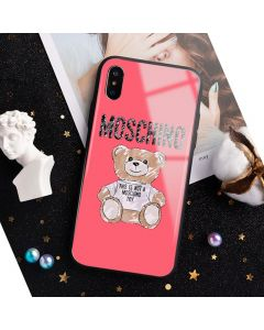 Moschino Brushstroke Teddy Bear iPhone Case Red