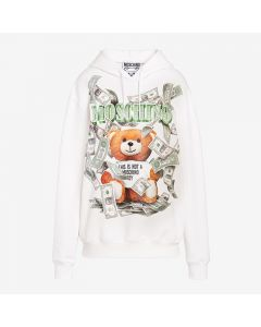 Moschino Dollar Teddy Bear Women Long Sleeves Sweatshirt White