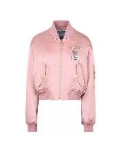 Moschino Paper Bear Women Long Sleeves Jacket Pink