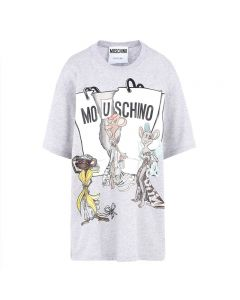Moschino Rat A Porter Women Short Sleeves T-Shirt Grey