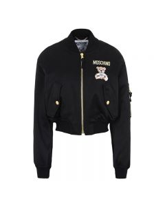 Moschino Paper Bear Women Long Sleeves Jacket Black