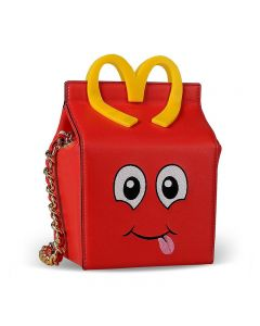 Moschino McDonald Happy Meal Women Small Leather Bag Red