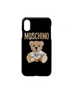 Moschino Paper Bear iPhone Case Black