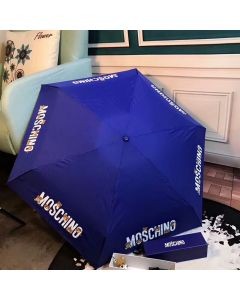 Moschino Logo Bears Women Mini Umbrella Blue
