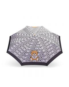 Moschino Logo Toy Bear Women Mini Umbrella Black