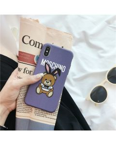 Moschino Playboy Bear iPhone Case Purple