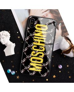 Moschino x The Sims Pixel Logo iPhone Case Black