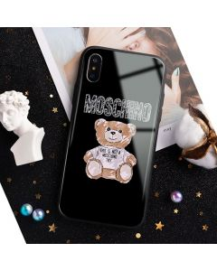Moschino Brushstroke Teddy Bear iPhone Case Black