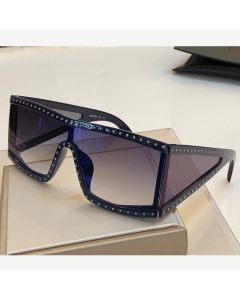 Moschino Rectangular Studded Women Sunglasses Blue