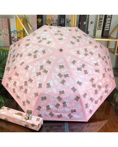 Moschino Letters Bears Women Mini Umbrella Pink