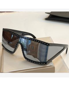 Moschino Rectangular Studded Women Sunglasses Black