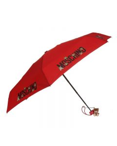 Moschino Logo Bears Women Mini Umbrella Red