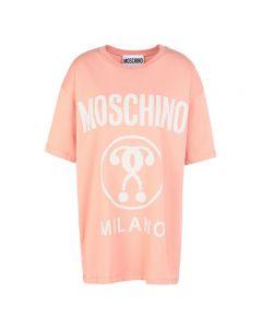 Moschino Hearted Question Women Short Sleeves T-Shirt Pink