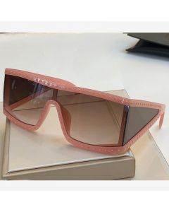 Moschino Rectangular Studded Women Sunglasses Pink