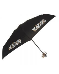 Moschino Logo Bears Women Mini Umbrella Black