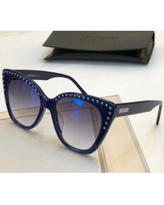 Moschino Micro Studs Women Sunglasses Blue