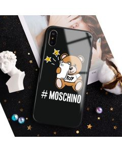 Moschino Selfie Teddy Bear iPhone Case Black