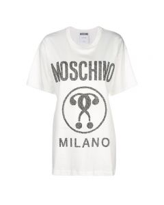 Moschino Hearted Question Women Short Sleeves T-Shirt White