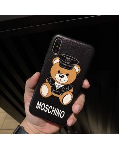 Moschino Dressed Bear iPhone Case Black