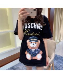 Moschino Loves Printemps Bear Women Short Sleeves T-Shirt Black