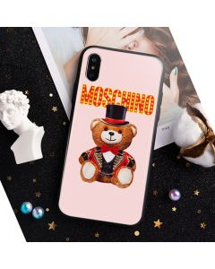 Moschino Circus Teddy iPhone Case Pink