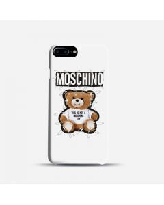 Moschino Safety Pin Teddy iPhone Case White